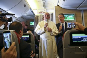 Pope Francis en route to Chile
